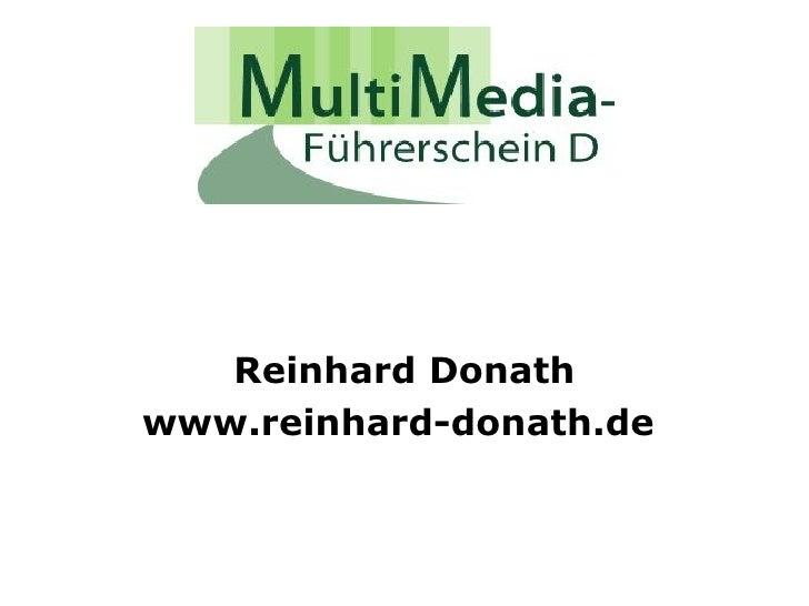 Reinhard Donath www.reinhard-donath.de