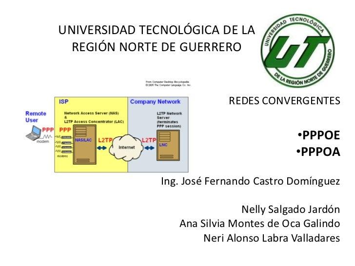 UNIVERSIDAD TECNOLÓGICA DE LA  REGIÓN NORTE DE GUERRERO                            REDES CONVERGENTES                     ...