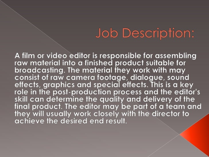 Photo Editor Job Description Executive Secretary Magazine Why Do We
