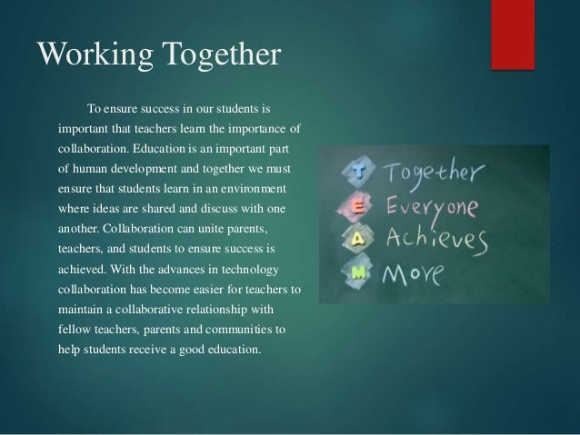 Collaborative Teaching Fellowship ~ Pp power of collaboration