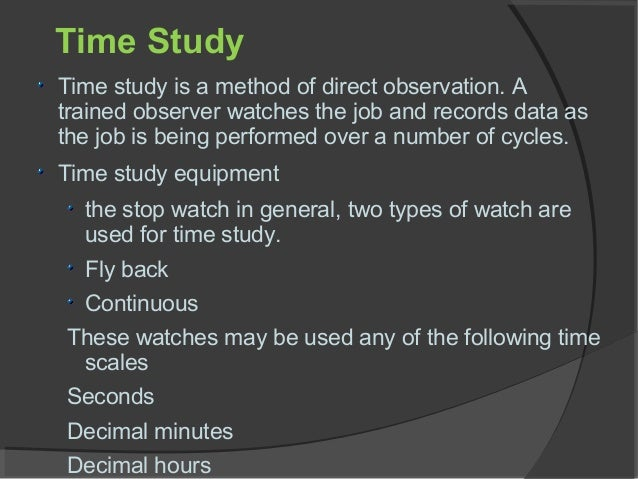 Effect of time and motion study on productivity in garment ...
