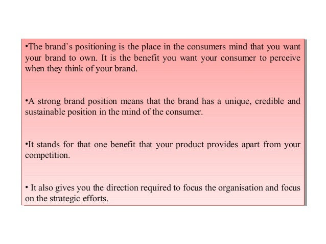 brand positioning statement examples