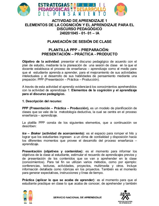 CLASE CON FORMATO DEL SENA