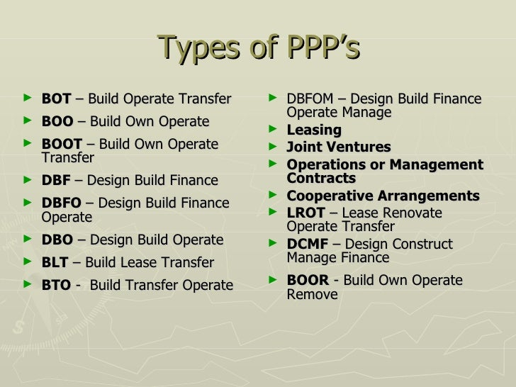 Public private partnerships 13 types of ppps pronofoot35fo Choice Image