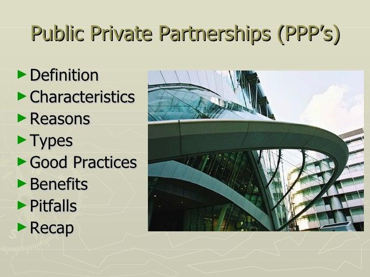Public–private partnership