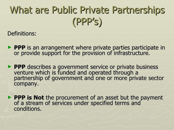 Public private partnerships 3 what are public private partnerships pronofoot35fo Choice Image