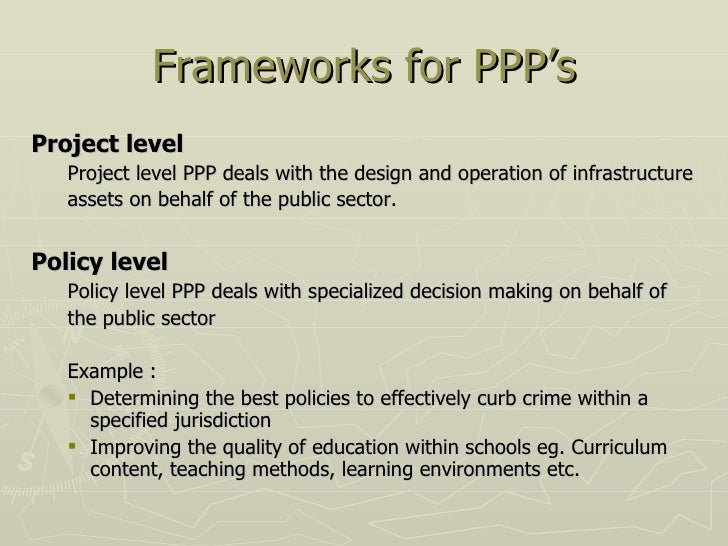 Public private partnerships 5 frameworks for ppps pronofoot35fo Choice Image