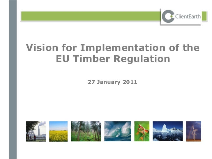Vision for Implementation of the      EU Timber Regulation           27 January 2011
