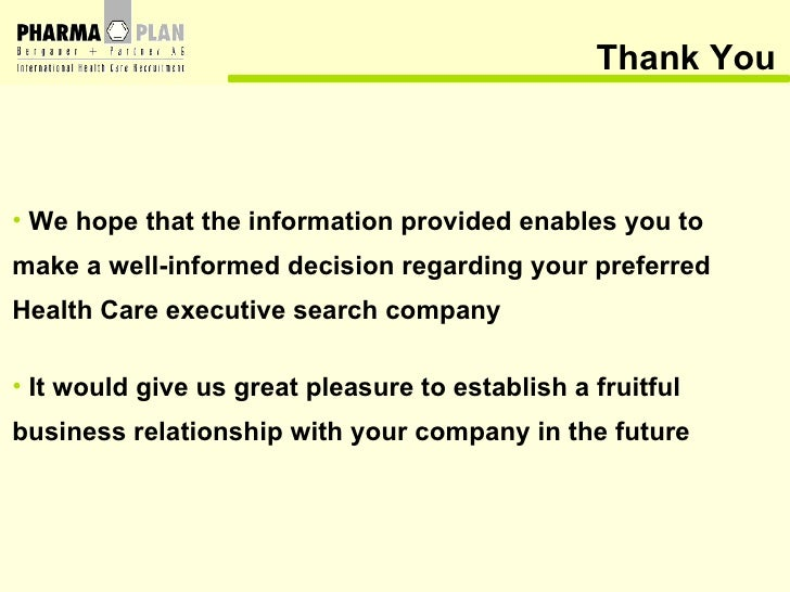 Thank You <ul><li>We hope that the information provided enables you to  make a well-informed decision regarding your prefe...