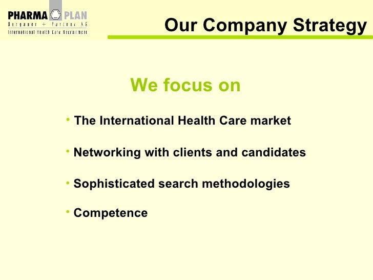 Our Company Strategy <ul><li>The International Health Care market </li></ul><ul><li>Networking with clients and candidates...