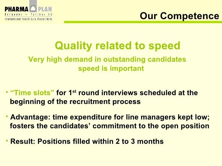 Our Competence <ul><li>Quality related to speed </li></ul><ul><li>Very high demand in outstanding candidates </li></ul><ul...