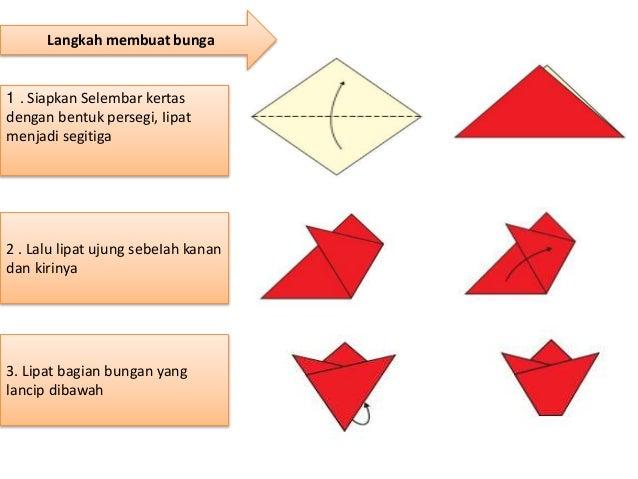 Cara melipat kertas origami bunga tulip tiup 3 dimensi | Origami ... | 479x638
