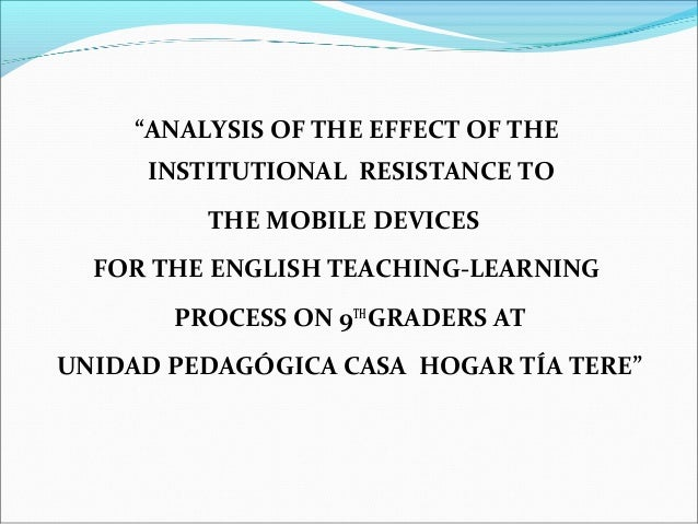 An analysis of the problems of english education