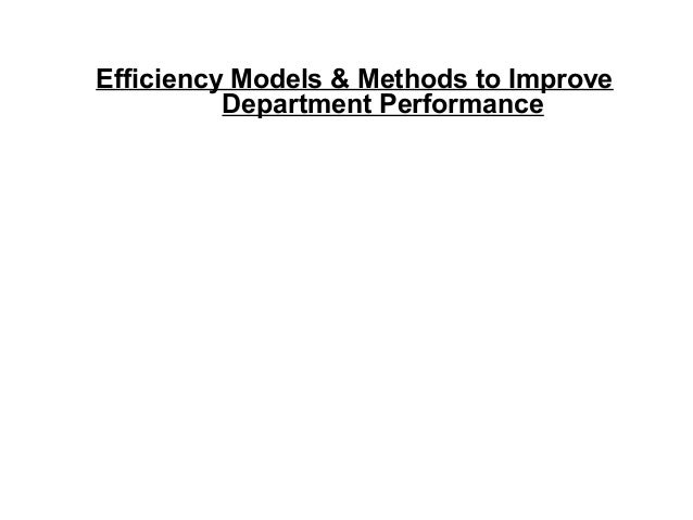 Efficiency Models and Methods to Improve Credit Department Performance