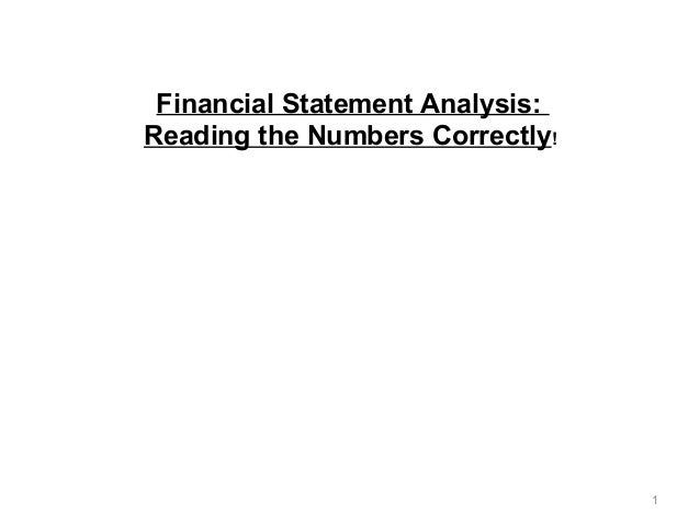 1  October 15-17, 2014 - CreditScapeConference.com - #creditscape  Financial Statement Analysis:  Reading the Numbers Corr...