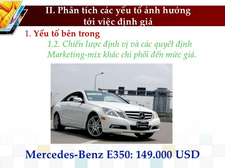 Quan tri gia quan tri marketing for Mercedes benz marketing mix