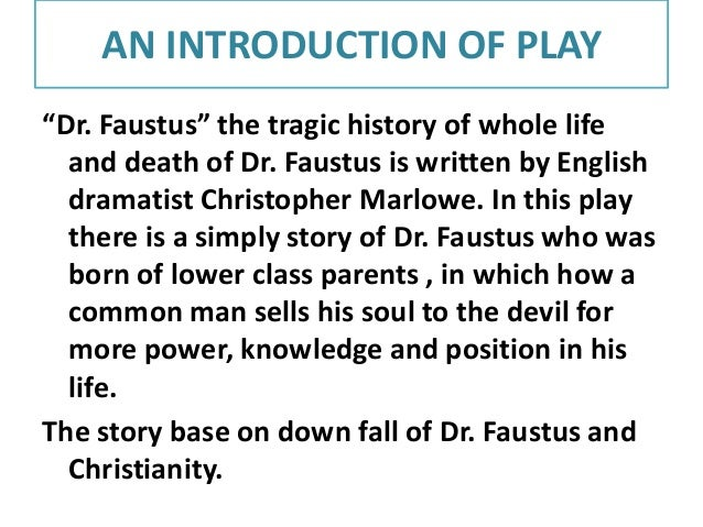 faustus and conflict essay