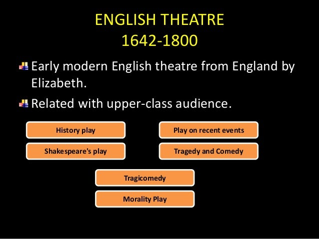 difference between french theater and english theater
