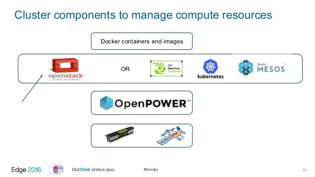 Scalable TensorFlow Deep Learning as a Service with Docker, OpenPOWER…