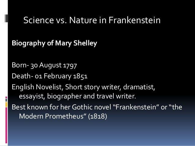frankenstein science fiction essay Critical essays frankenstein as a gothic novel bookmark this page manage my reading list instead, this novel is a compilation of romantic and gothic elements combined into a singular work with an unforgettable story.