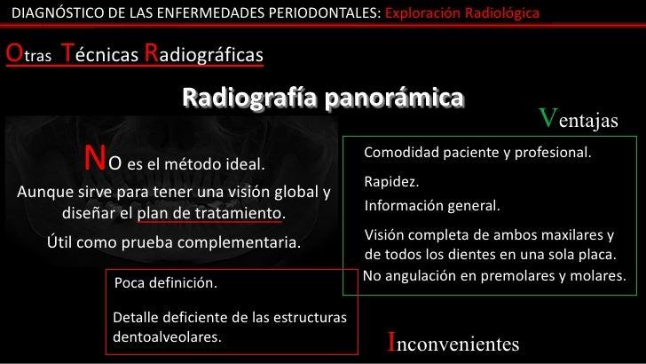DIAGNÓSTICO DE LAS ENFERMEDADES PERIODONTALES: Exploración RadiológicaOtras Técnicas Radiográficas                        ...