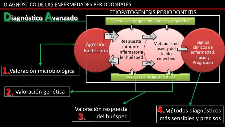 DIAGNÓSTICO DE LAS ENFERMEDADES PERIODONTALES                                              ETIOPATOGÉNESIS PERIODONTITISDi...