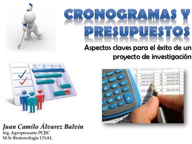 Aspectos claves para el éxito de un                                      proyecto de investigaciónJuan Camilo Álvarez Balv...