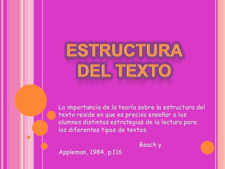 Pps Estructura Del Texto Didáctica De La Literatura