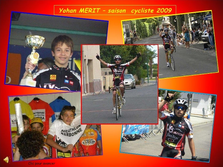 Yohan MERIT – saison  cycliste 2009 Clic pour avancer