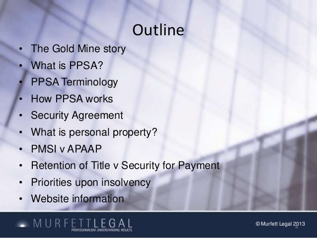 Personal Property Securities Act  Ppsa
