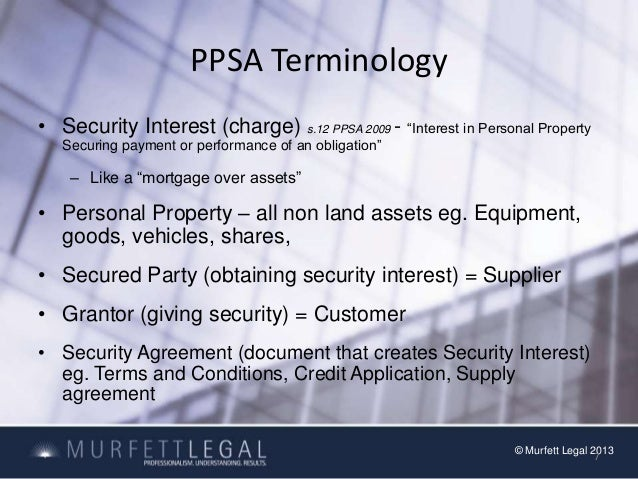 Personal Property Securities Act Register