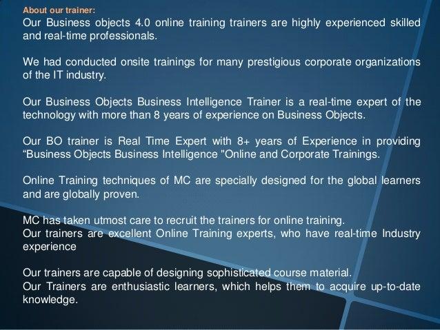 SAP BO Online Training | SAP Business Objects Training | SAP BO 4.…