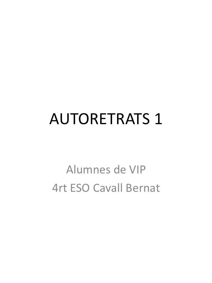AUTORETRATS 1   Alumnes de VIP4rt ESO Cavall Bernat