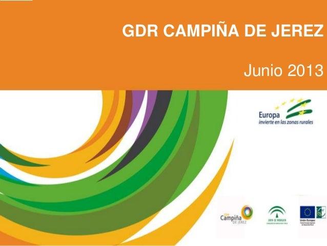 GDR CAMPIÑA DE JEREZ Junio 2013