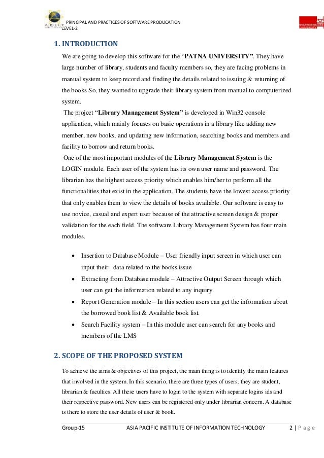 Library Management System Project Documentation Pdf