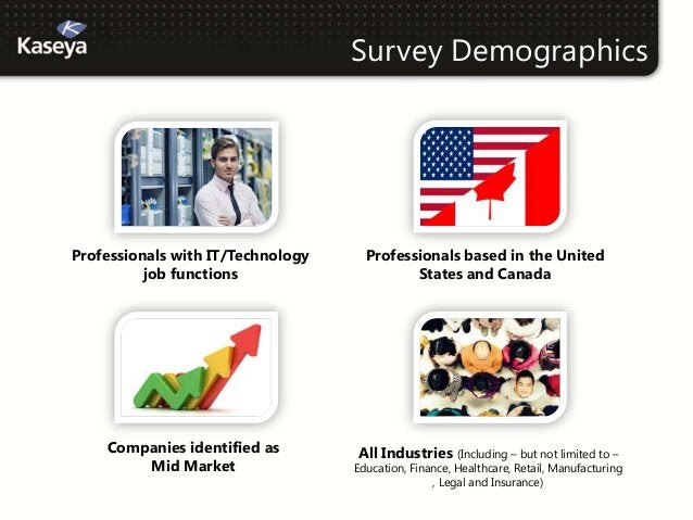 Survey DemographicsProfessionals with IT/Technology     Professionals based in the United          job functions          ...