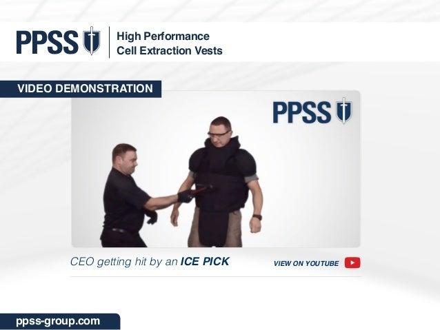 PPSS Cell Extraction Vests - NIJ Level III Stab Spiek
