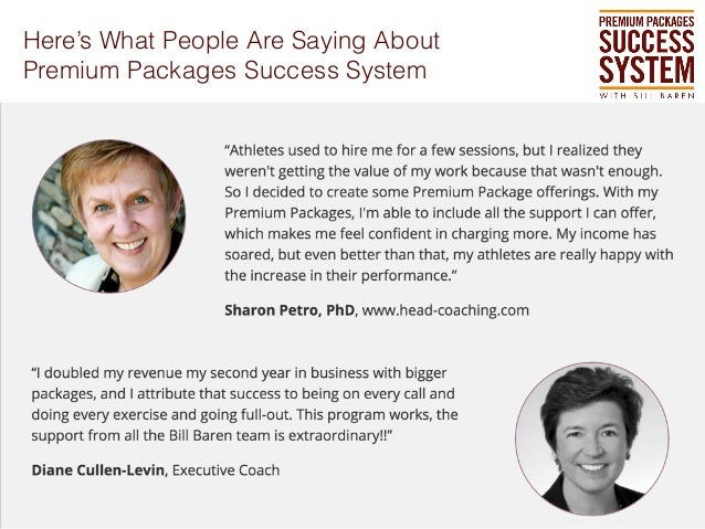Here's What People Are Saying About Premium Packages Success System