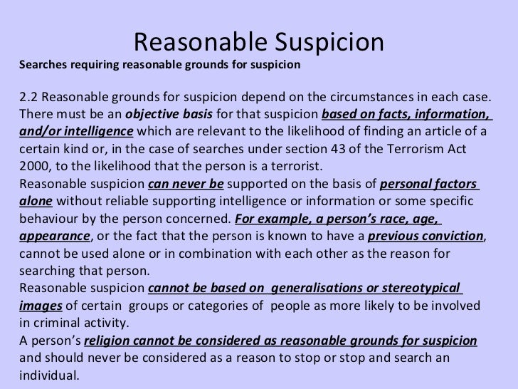 Reasonable Suspicion School Searches PP stop and sea...