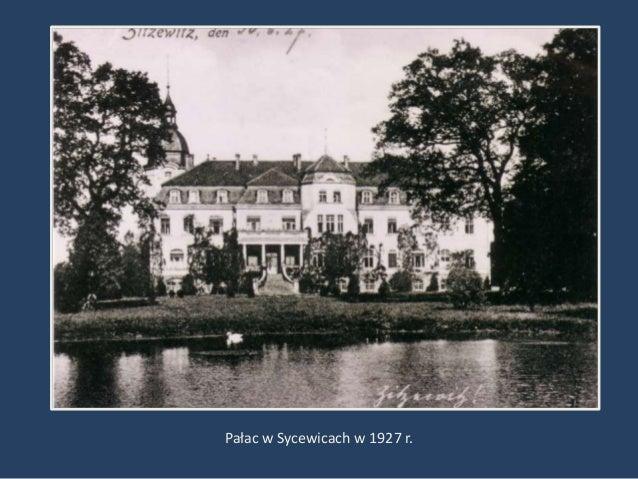 Pałac w Sycewicach w 1927 r.