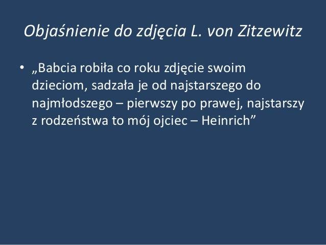 """Objaśnienie do zdjęcia L. von Zitzewitz• """"Babcia robiła co roku zdjęcie swoim  dzieciom, sadzała je od najstarszego do  na..."""
