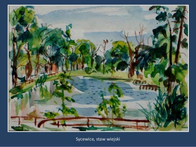 """Wizyta w Sycewicach 1995• """"A oto widok z mojego domu na początku wsi  Sycewice w kierunku Pałowa i Pieszcza.  Znamienne są..."""
