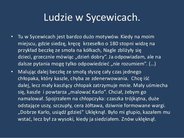 """Ludzie w Sycewicach• """"Podczas mojej pracy przyszło więcej dzieci.  Wszyscy patrzyli, ale nikt nic nie mówił. Kiedy  skoocz..."""