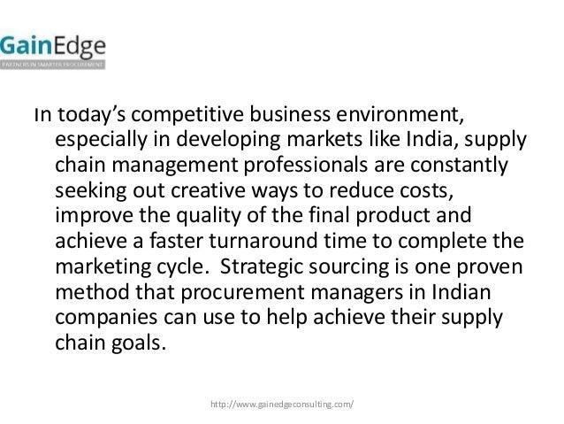 strategic sourcing and procurement pdf