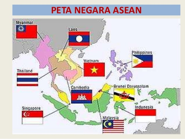 Sejarah Pembentukan Asean Peta Negara 13 Gambar