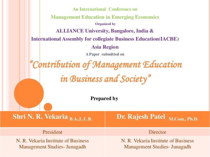 An International  Conference on<br />Management Education in Emerging Economics<br /> Organized by <br />ALLIANCE Universi...