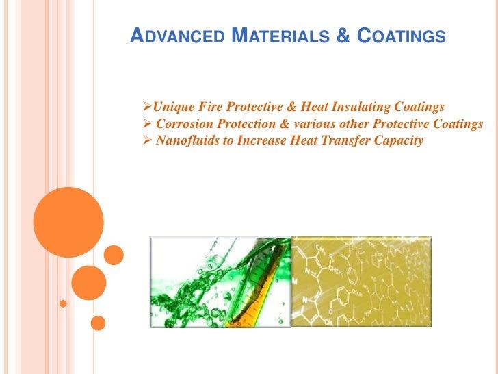 "Nanofluids to Increase Heat Transfer Capacity</li></li></ul><li>1. Fire Protective & Heat Insulating Coatings<br />""Therm..."
