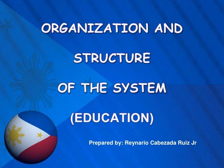 ORGANIZATION AND STRUCTURE OF THE SYSTEM(EDUCATION)<br />Prepared by: Reynario Cabezada Ruiz Jr<br />