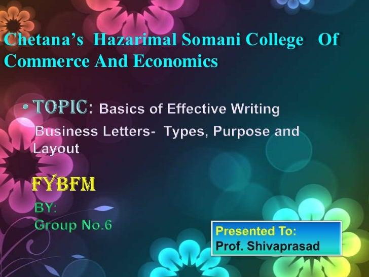 Chetana's Hazarimal Somani College OfCommerce And Economics