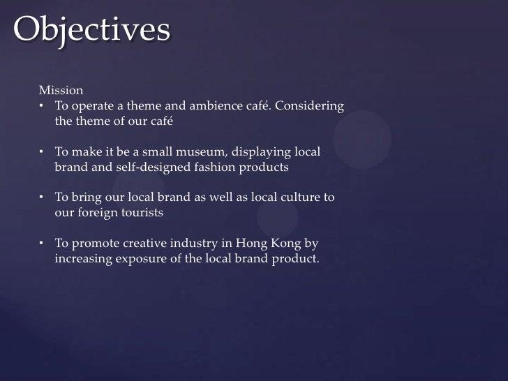 cafe objectives